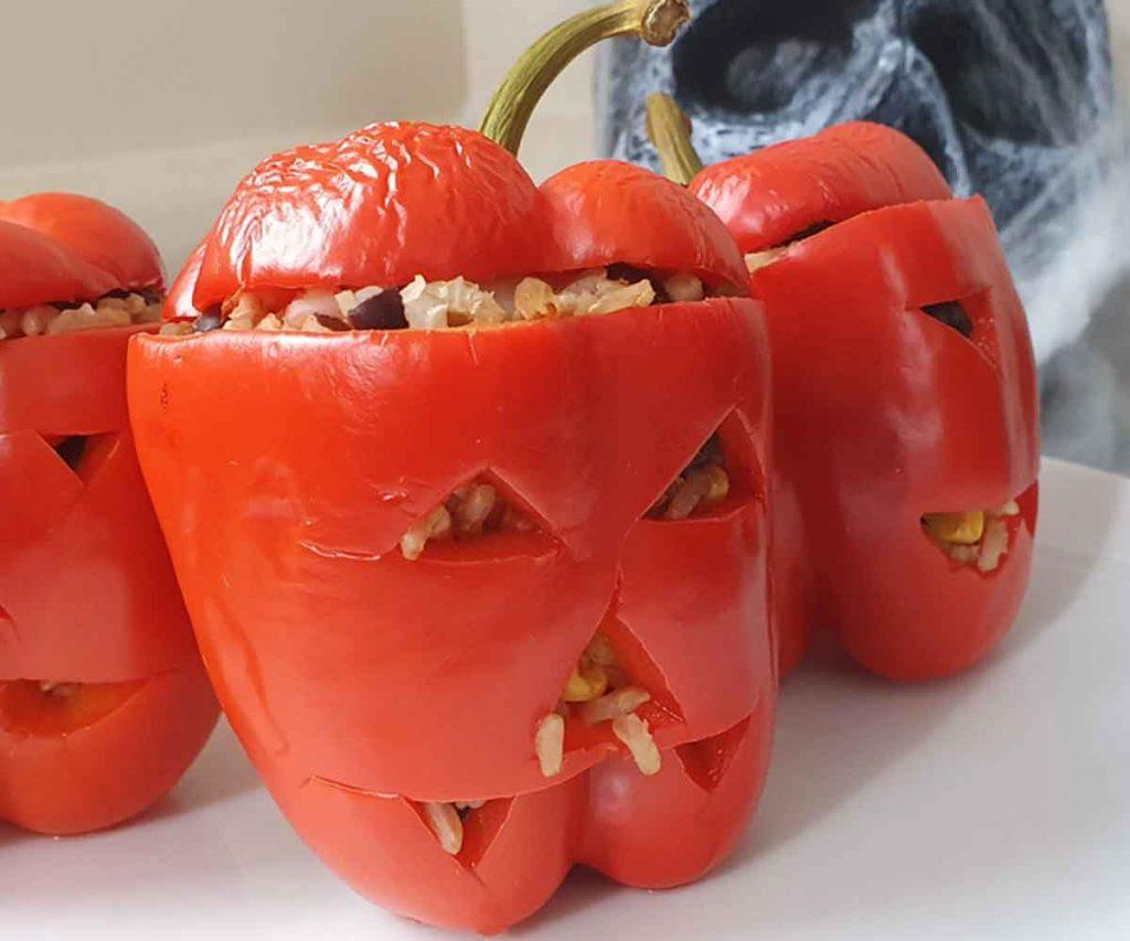 Stuffed Halloween Peppers