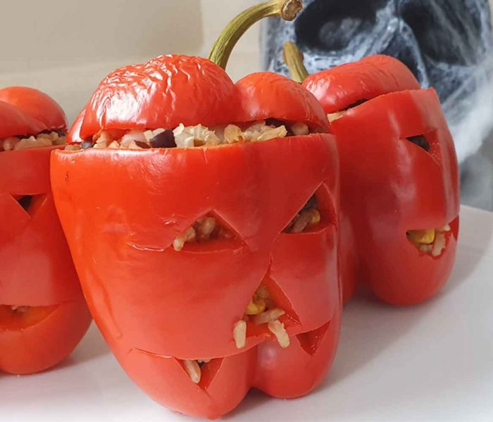 Halloween Stuffed Pepper