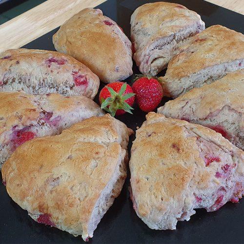 8 triangle strawberry scones